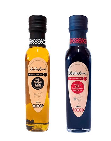 Aceite con Aroma a Trufa Negra 200 ml + Aceto Balsámico Trufado 200 ml