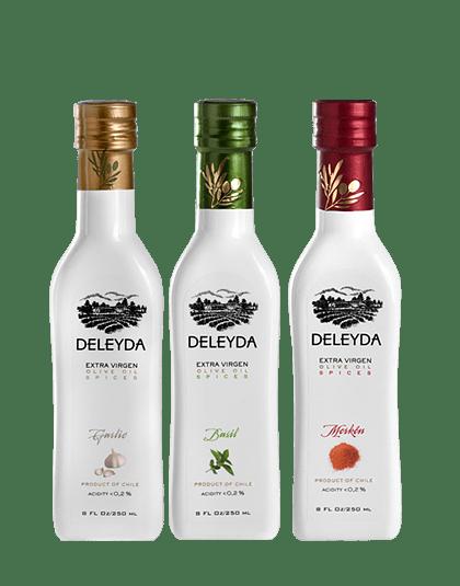 12 Aceite de Oliva Especiados: Ajo, Albahaca, Merkén