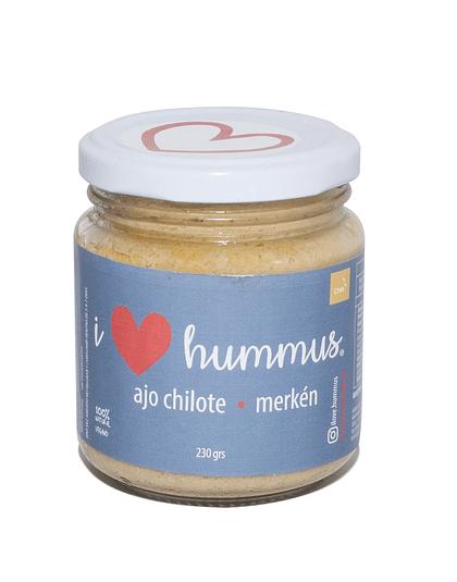 I Love Hummus - Ajo chilote con Merkén 230 gr