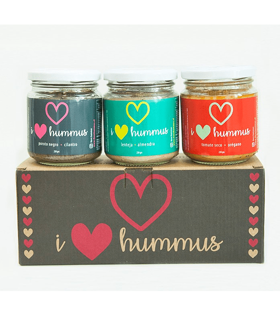 Pack Hummus Poroto Negro - Cilantro, Lenteja - Almendra y Tomate Seco - Orégano