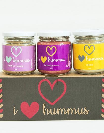 Pack Hummus Berenjena - Paprika, Betarraga - Comino y Original