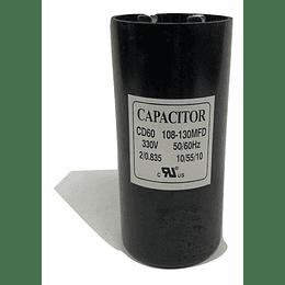 CAPACITOR DE PARTIDA 330v 108-130 MFD