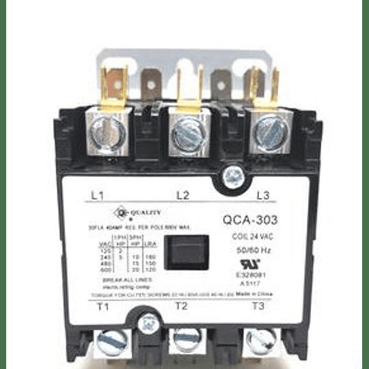 CONTACTOR 3P 24v 30 AMP QCA-303