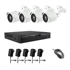 KIT CÁMARAS IP 1MP & NVR Powerline Transmision elect
