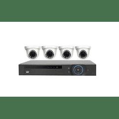 KIT CCTV - DVR 4 CANALES 960H - 1.0 MEGAPIXEL (DOMO)