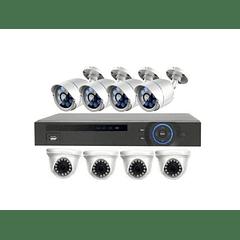 KIT CCTV - AHD DVR 8 CANALES - 1.0 MEGAPIXEL