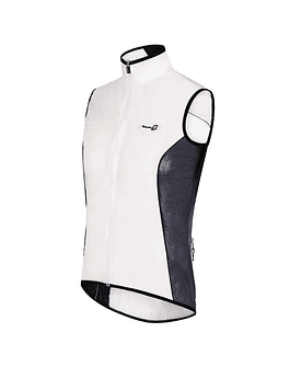 SLEEVELESS WINDPROOF AND RAINDPROOF VEST
