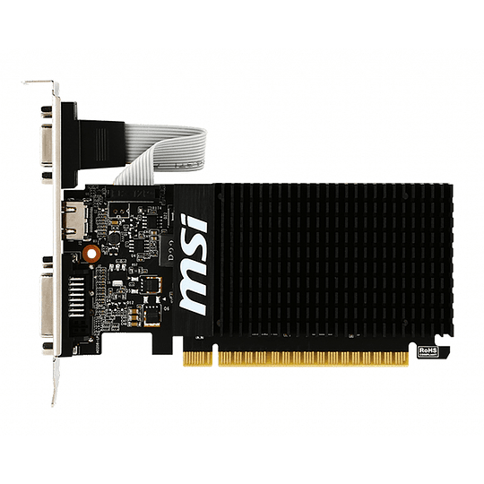 Tarjeta Gráfica Gamer Msi Gt710 1GB DDR3 VGA/HDMI/DVI PCIx16