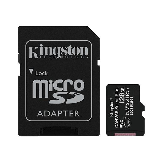 Tarjeta Micro Sd Kingston Canvas Select Plus 128gb