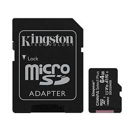 Tarjeta Micro Sd Kingston Canvas Select Plus 64gb
