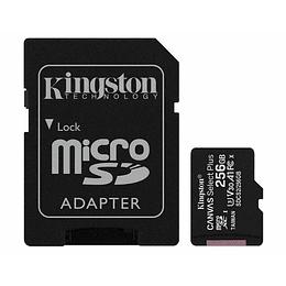 Tarjeta Micro Sd Kingston Canvas Select Plus 256gb