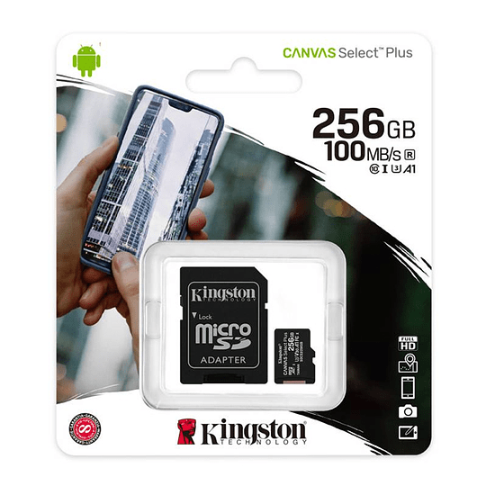 Tarjeta Micro Sd Kingston Canvas Select Plus 256gb