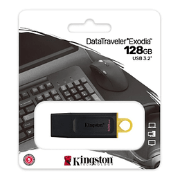 Pendrive Usb 3.2 Kingston Datatraveler Exodia 128gb