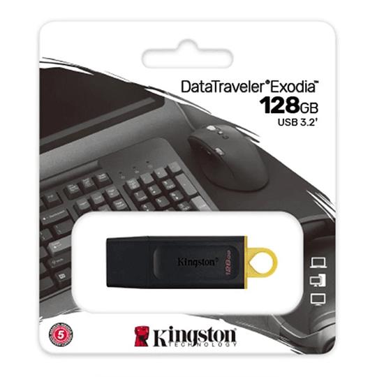 Pendrive Usb 3.2 Kingston Datatraveler Exodia 128gb