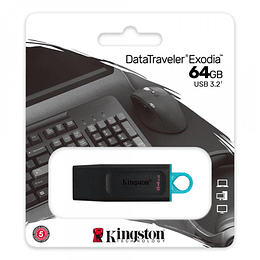 Pendrive Usb 3.2 Kingston Datatraveler Exodia 64gb