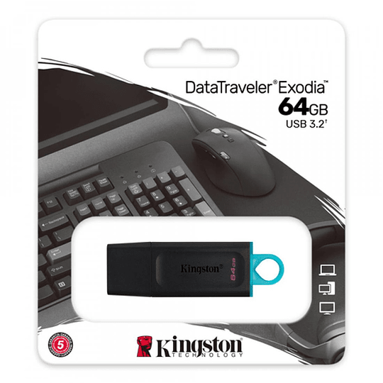 Pendrive Usb 3.2 Kingston Datatraveler Exodia 64gb