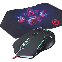 Kit Gamer Mouse Optico 2400dpi + Mousepad Marvo M309+g7