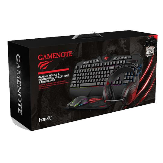 Pack Gamer Pro 4 en 1 Led Gamenote KB501CM