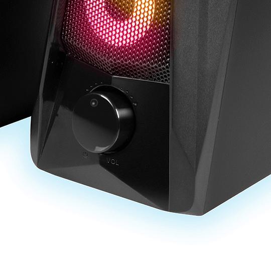 Parlantes Estéreo Gamer Led 2.0 Xtech Xts-130 Incendo
