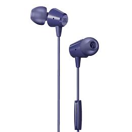 Audífono Manos Libres Micrófono Alámbrico Jbl C50hi Azul