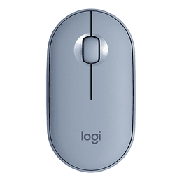 Mouse Inalámbrico Bluetooth Logitech Pebble M350 Azul