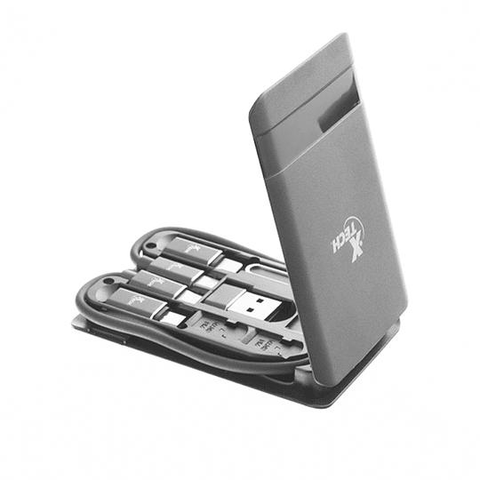 Estuche Portatil Multifuncional Cable Tipo C Xtech Xtc-570