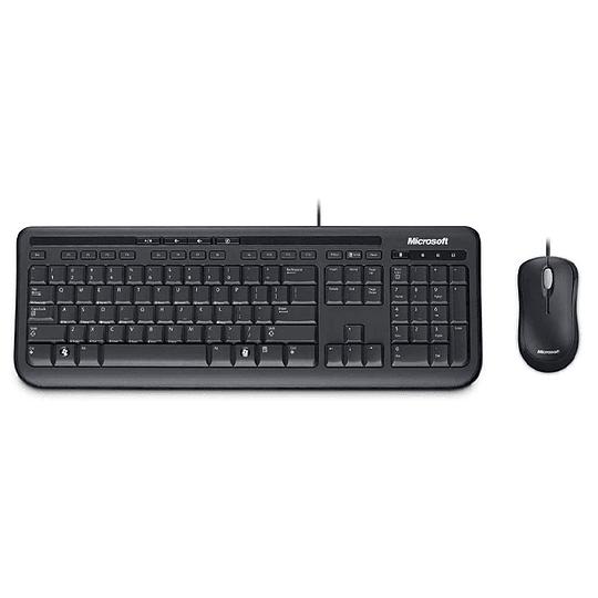 Combo Teclado + Mouse Microsoft Wired 600 Usb