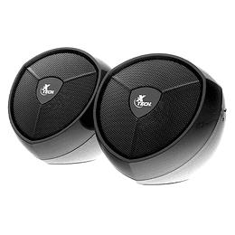 Parlantes Estéreo Multimedia 2.0 USB 3,5mm Xtech Xts-111 Ikonic