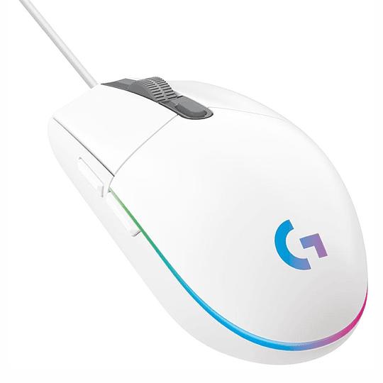 Mouse Gamer Logitech G203 New Rgb Lightsync Blanco