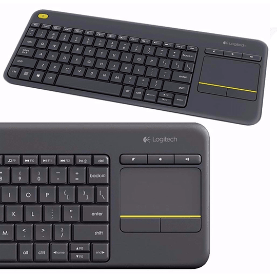 Teclado Touchpad Logitech Inal K400 Plus Pc/tv