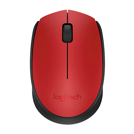 Mouse Inalambrico Plug And Play Logitech M170 Rojo