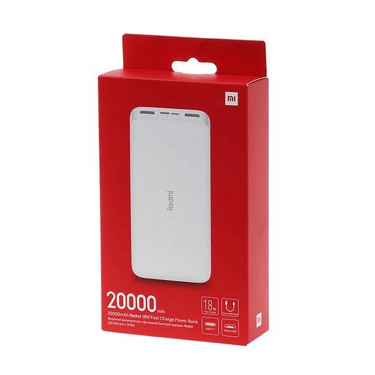 Power Bank Xiaomi Redmi 20000 mAh 18W Fast Charge Tipo C Micro Usb