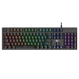 Teclado Mecánico Gamer Rgb Usb Gamenote Kb858l Blue Switch