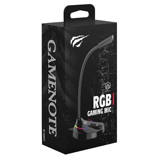 Microfono Gamer pro Usb Gamenote Gk55 RGB P&P omnidireccional