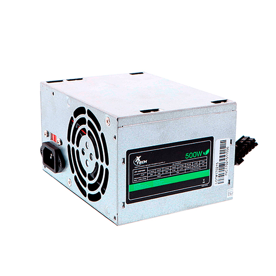 Fuente De Poder Xtech Atx 500 Watt 110/220v W/2 Sata