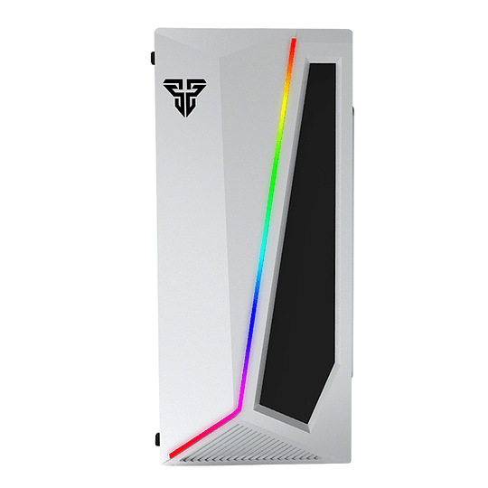Gabinete Gamer Fantech Cg71 Pulse Rgb Middle Tower White