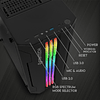 Gabinete Gamer Pro Fantech Cg72 Rgb Middle Tower Case Black