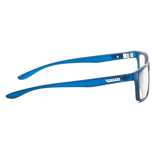 Lentes Gamer Pro Luz Azul Uv Gunnar Cruz Navy Clear