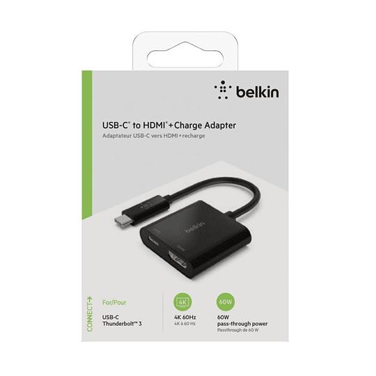 Adaptador USB-C a HDMI + Carga Belkin AVC002btBK