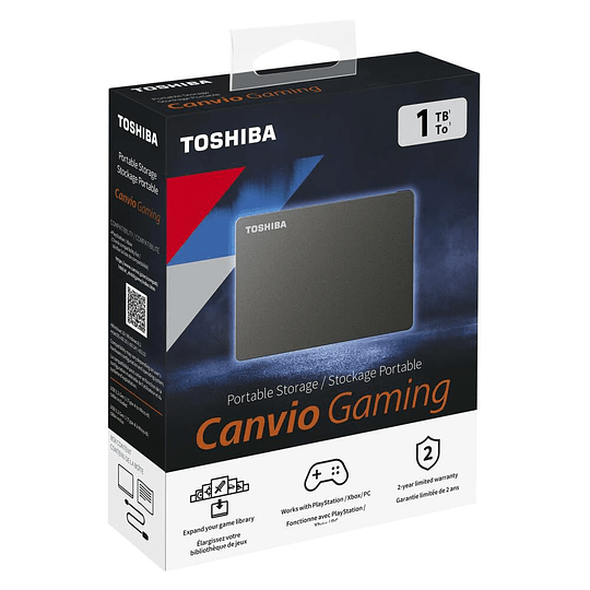 Disco Duro Externo Toshiba Canvio Gaming 1tb