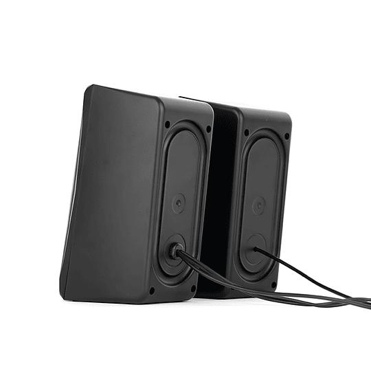 Parlantes Gamer Gamenote Sk700 Rgb 3.5mm Usb Led