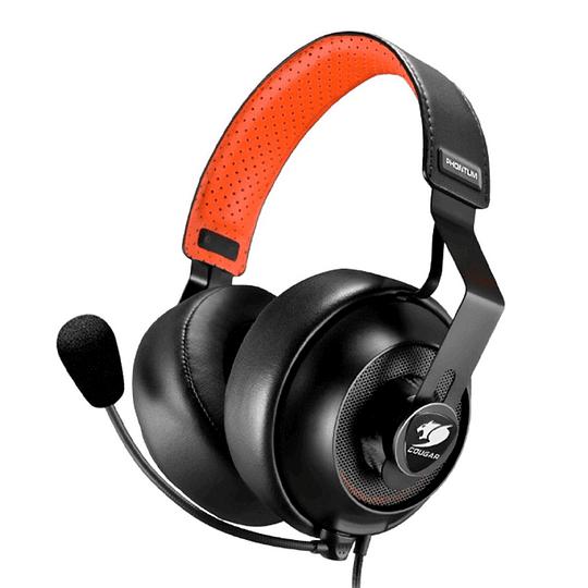 Audifono Gamer Pro Cougar Phontum S Black Orange