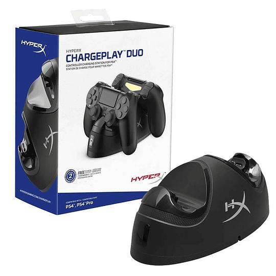 Cargador Para Joystick Controles Ps4 Hyperx Chargeplay Duo