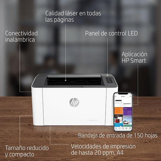 Impresora inalambrica wifi Laser Hp 107w Mono 20ppm