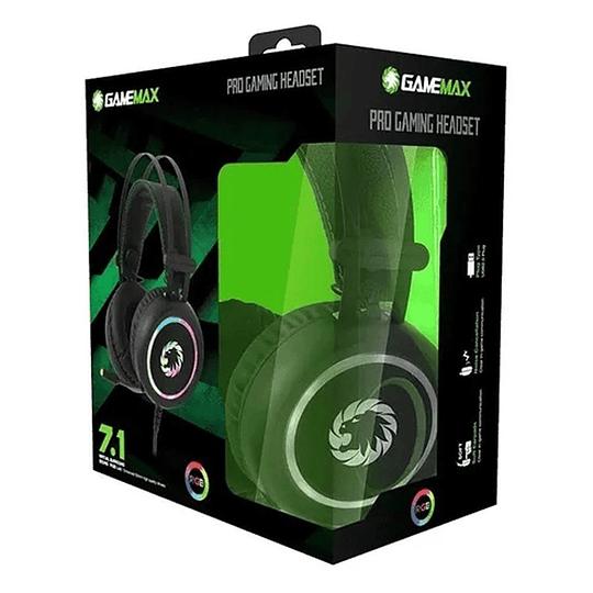 Audifonos Gamer GameMax Hg3500 7.1 Rgb Usb Bass