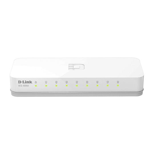 Switch 8 Puertos 10/100mb D-link Des-1008a