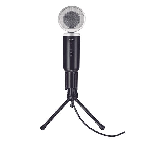 Micrófono Condensador Omnidireccional Trust Madell Negro