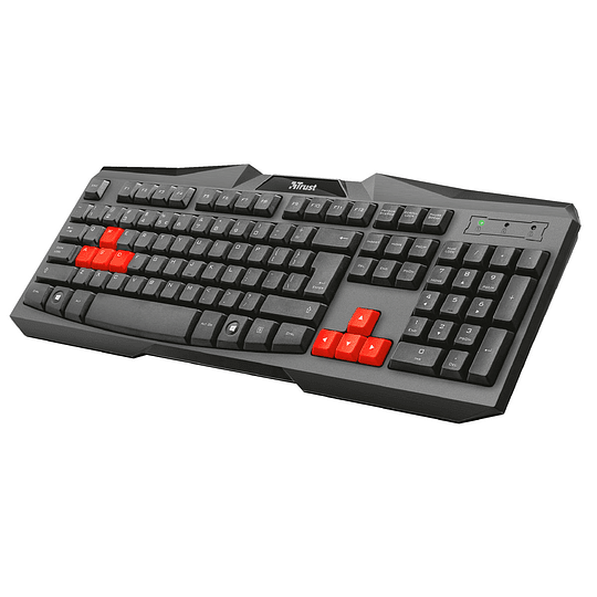 Teclado Gamer Trust Ziva Gaming Keyboard 21958 Negro