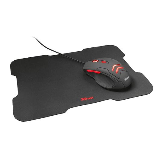 Kit Gamer Mouse + Mousepad Trust Ziva 21963 6 Botones