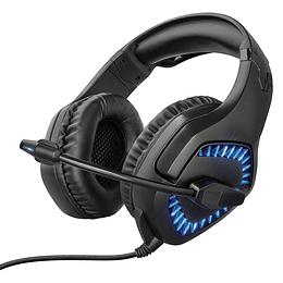 Audífonos Gamer Pro Varzz Gxt 460 Trust PC Blue led 50mm